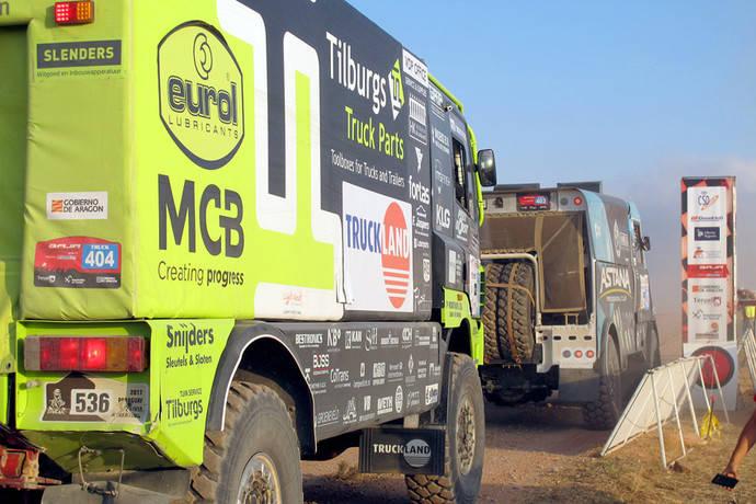 Truckland 'alcanza' el tercer cajón del podio en el rally Baja Aragón