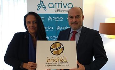 Arriva Galicia donará parte de su recaudación a los proyectos de la Fundación Andrea