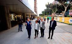 La Avenida Mesa y López pone en uso el primer tramo de su transformación como plataforma peatonal