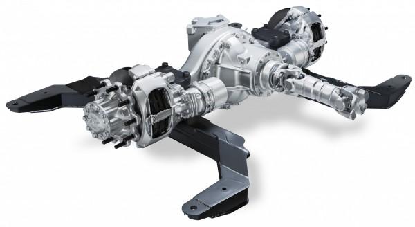 DAF Componentes muestra nuevo eje trasero eficiente y silencioso