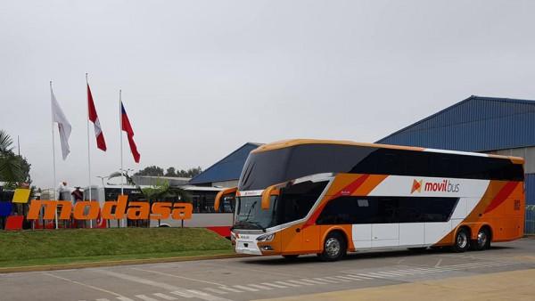 Modasa de Perú muestra su nuevo autocar de dos pisos, el Zeus 4