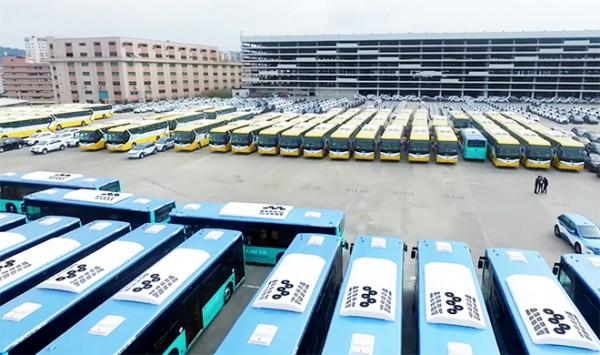 La ciudad china de Shenzhen electrifica toda su flota de autobuses