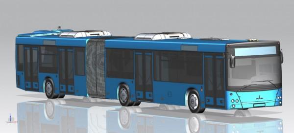 MAZ presentará su primer autobús con motor trasero en Busworld Russia