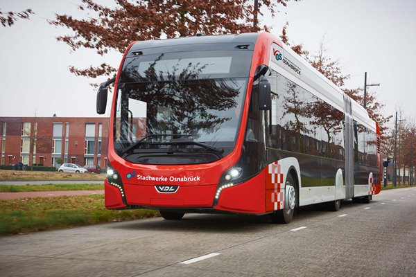 Un autobús de VDL, de pruebas en Osnabrück.
