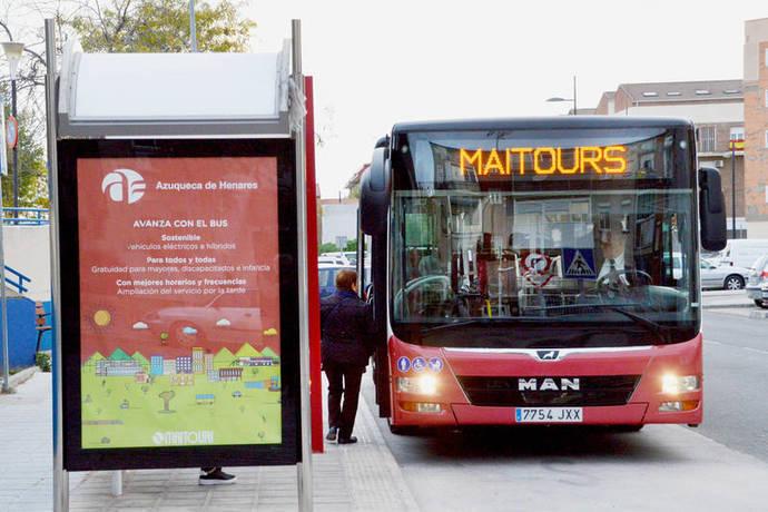 El autobús urbano de Azuqueca suma 6.000 usuarios, al ser gratis con la Tarjeta Ciudadana
