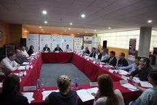 Reunión del comité organizador de ExpoBus Iberia.