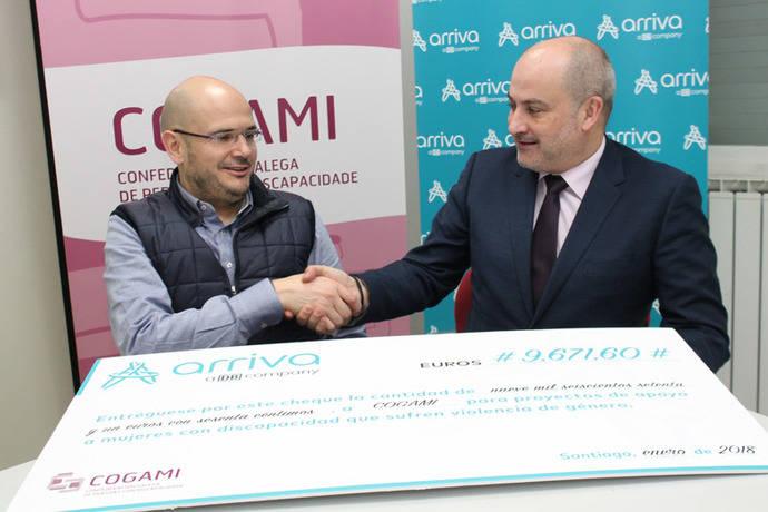 Arriva Galicia colabora con la organización Cogami