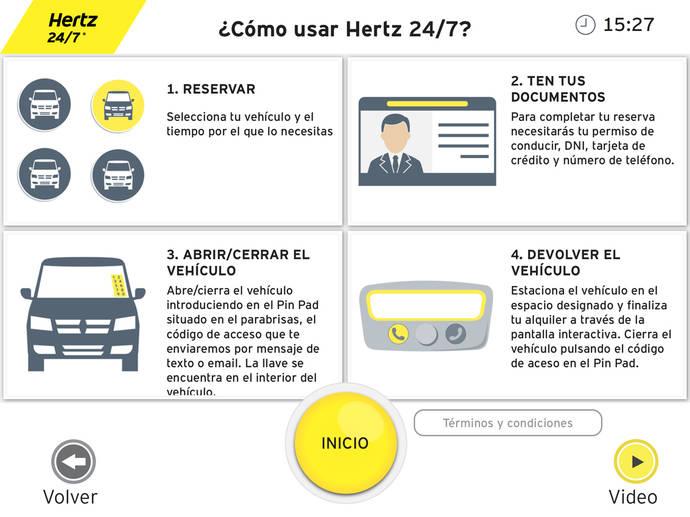Hertz facilita el alquiler de furgonetas en grandes almacenes