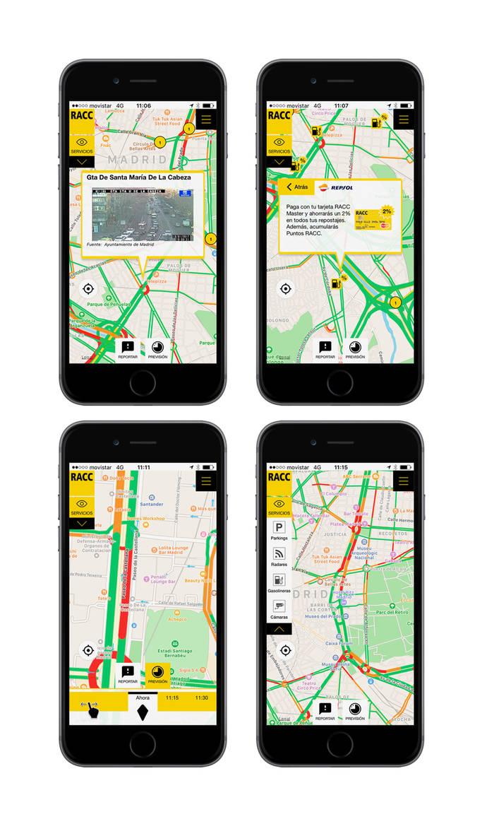 'RACC Infotransit' ofrece datos de tráfico de 163.000 km. de carreteras