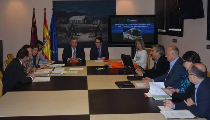 El Consejo Asesor de Transportes de Murcia aprueba la ampliación de siete concesiones regulares de viajeros