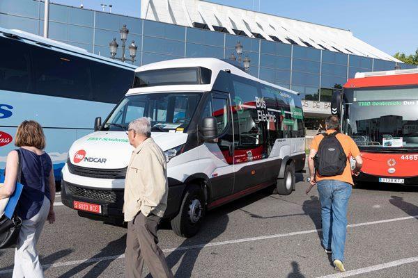 El vehículo eléctrico Indcar Strada e-City se presenta en el Rally de Autobuses Clásicos de Barcelona