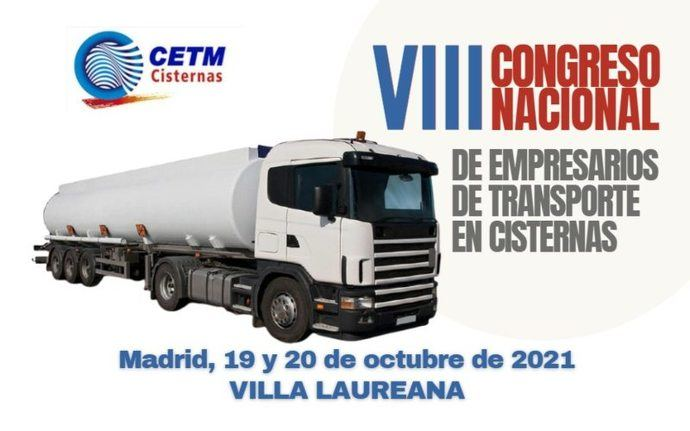 El VIII Congreso de Transporte en Cisternas se celebrará los días 19 y 20 de octubre