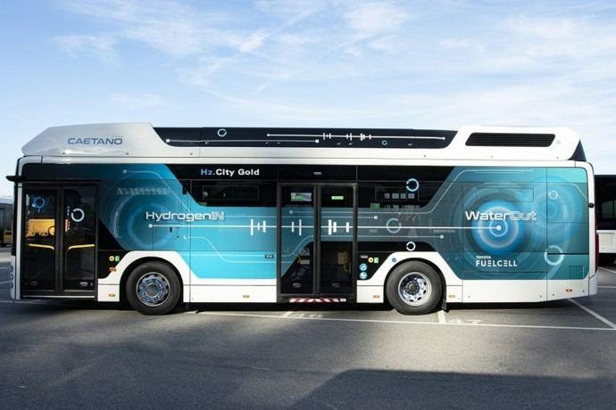 Autobuses de pila de combustible de Caetano para Alemania