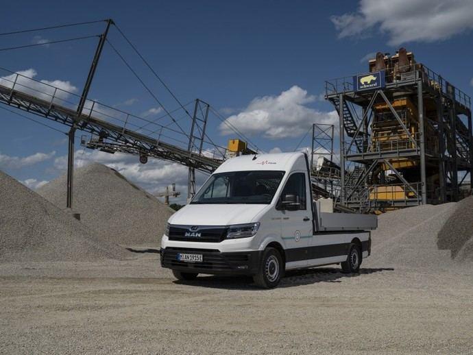 La MAN eTGE también circula con electricidad por zonas de construcción