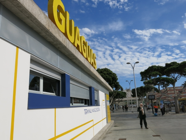 Guaguas traslada paradas de la plaza Manuel Becerra por el rodaje de Allied