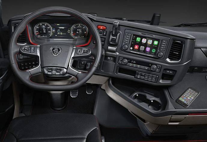 La nueva generación de camiones Scania está introduciendo Apple CarPlay