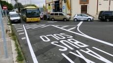 Las Palmas crea un carril bus en calle Manuela de las Casas