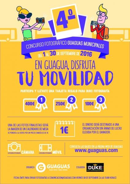 Cartel del concurso fotográfico organizado por Guaguas Municipales.