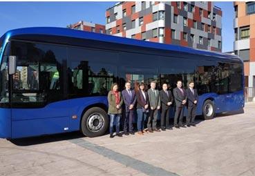 Alsa prueba en Oviedo el primer autobús totalmente eléctrico
