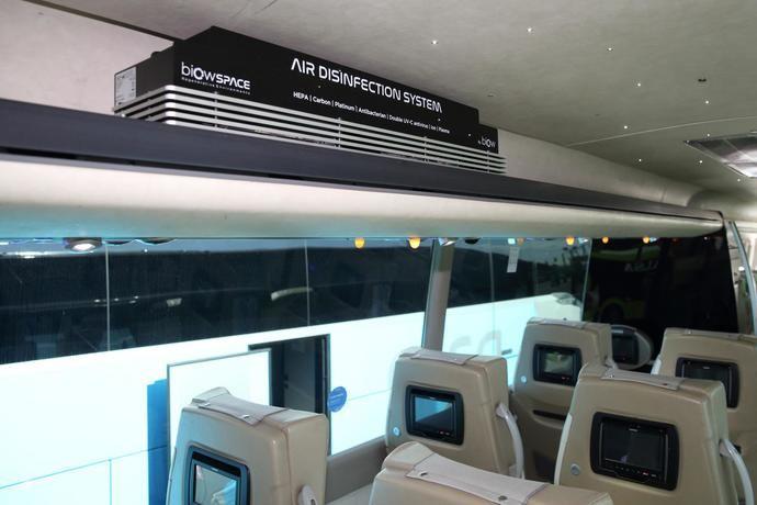 Alsa incorpora en sus autobuses el sistema de desinfección del aire Biow
