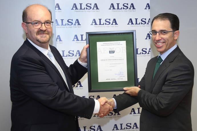 CTEA, empresa de Alsa, certificada por Aenor en Conducción Eficiente