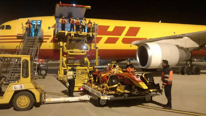 DHL estrena un Airbus 300 en sus viajes entre Sevilla, Vitoria y Leipzig