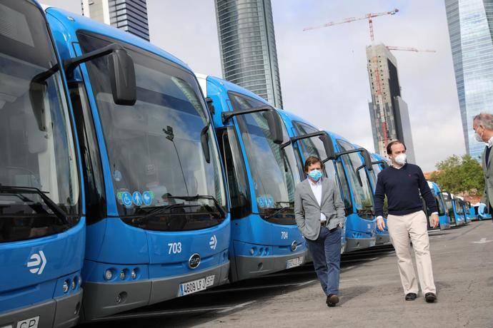 Madrid suma 15 autobuses eléctricos a la flota de EMT
