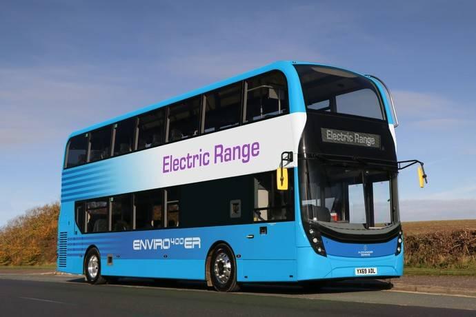 Alexander Dennis Enviro400ER, una opción híbrida en su gama eléctrica