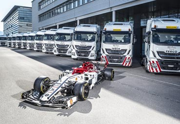 Iveco entrega una flota para logística a Alfa Romeo Racing