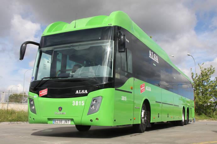 Alsa incorpora a su flota 10 autobuses Scania de GNC de 15 metros
