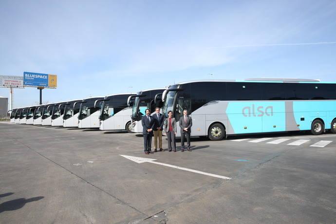 Alsa presenta la nueva flota de la concesión Madrid-Guadalajara