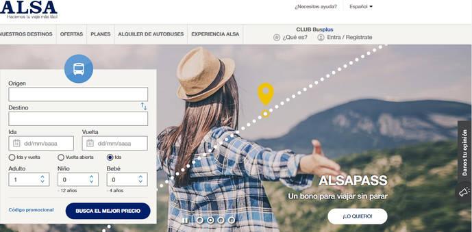 La web de Alsa, certificada por su accesibilidad