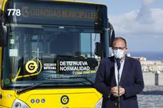Guaguas añade ocho vehículos Iveco, de 10 metros
