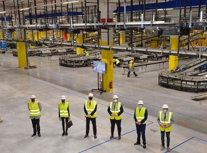 El centro logístico robotizado de Amazon en Murcia creará más de 1.200 empleos fijos