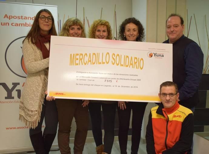 Centro logístico de DHL en Seseña dona 7.515 euros a Asociación Yuna