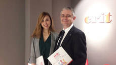 Laura Melero, directora corporativa de Grandes Cuentas y Marketing del Grupo Crit; y Javier Bautista, gerente de Astre Península Ibérica.