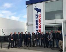 Astre visita el centro de producción de Schmitz Cargobull de Figueruelas