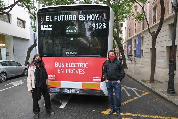 EMT Valencia prueba un nuevo autobús cero emisiones