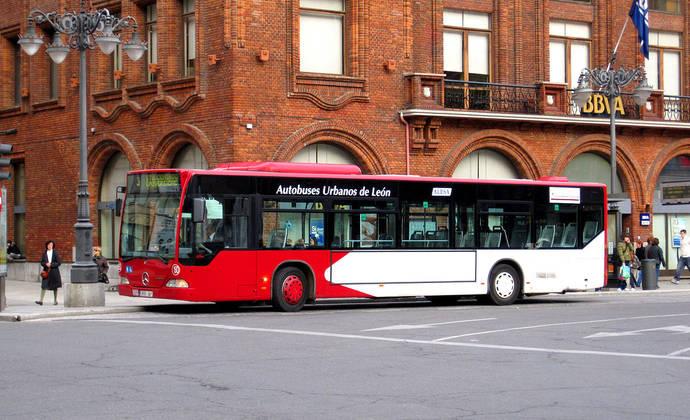 Un autobús urbano de la ciudad de León.