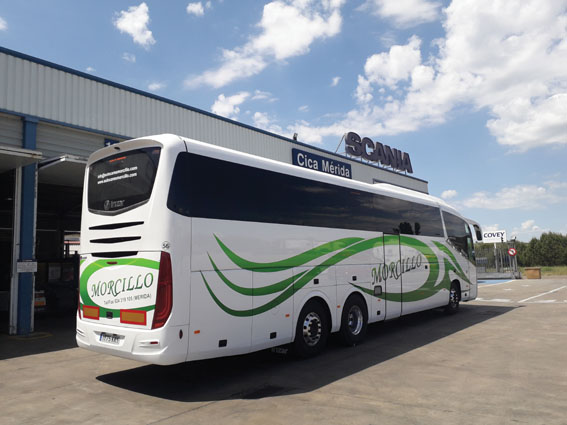 Morcillo incorpora un autocar de Scania e Irizar