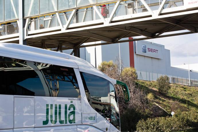 Autocares Julià usa tecnología a bordo en transporte colectivo de Seat