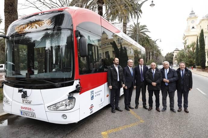 Se presenta el primer autobús autónomo del Grupo Irizar, en Málaga