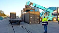 La Base Intermodal Barcelona Can Tunis recibe su primer convoy ferroviario