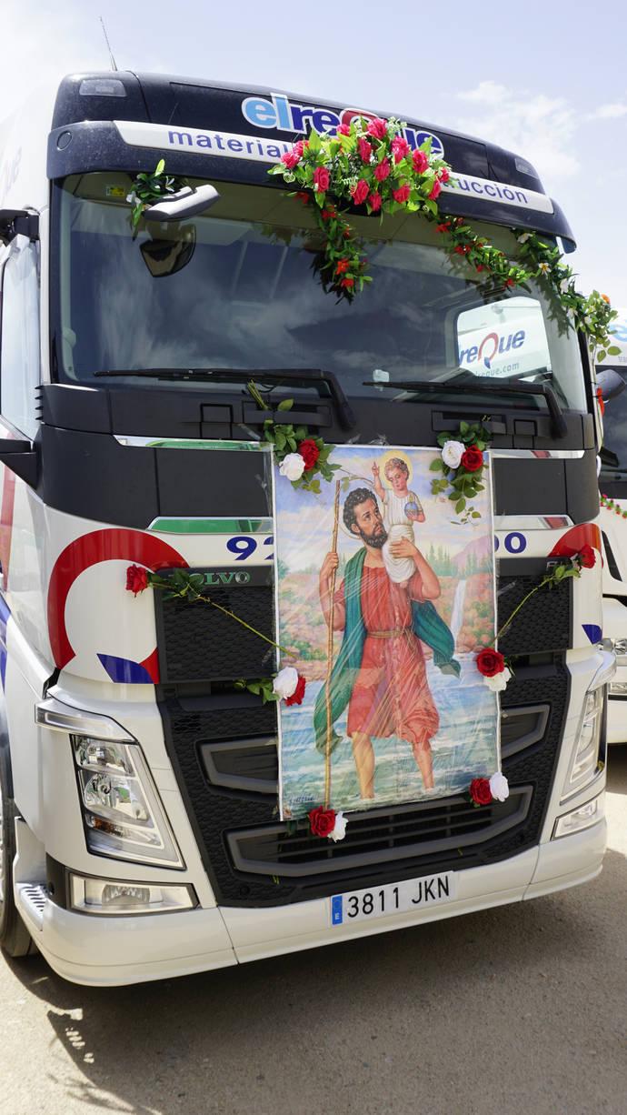 El Reque fue uno de los ganadores por los adornos de su camión.