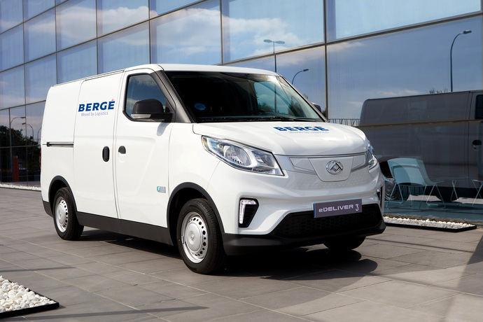 Bergé prueba con éxito las furgonetas eléctricas Maxus
