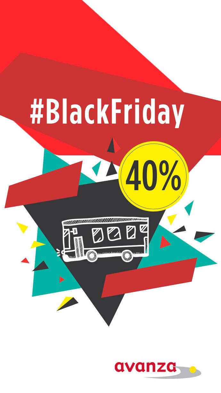 Avanza celebra el Black Friday con una promoción de descuentos del 40% en billetes