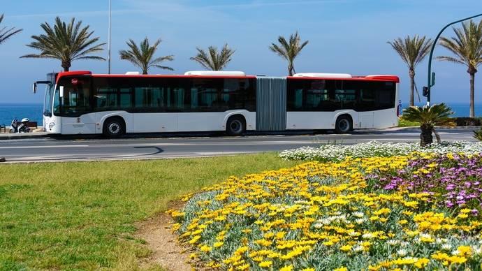 Aumentan los viajeros del servicio de autobús en Almería