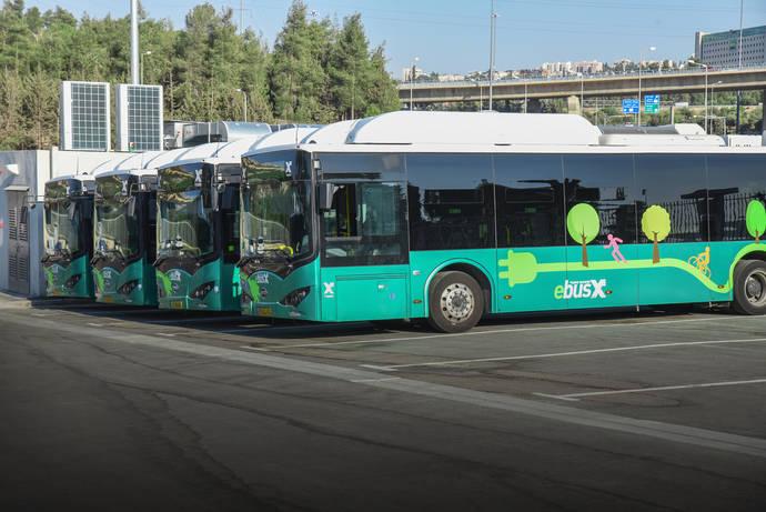 Nueva flota de buses eléctricos BYD entra en servicio en Jerusalén
