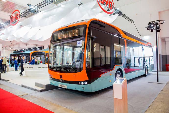 BYD presenta el autobús del futuro de 12 metros en Busworld Europa