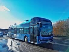 Autobús BYD eléctrico.
